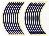 JILLS PRODUCTS リムステッカーSET 17インチ用 ブルー CB-1 CB400SF ジェイド JADE VFR400R CBR600F CB1300SF CBR1000XX VTR250 NSR250R NS-1 CB750 GSX1300R GSX-R750 バンディット インパルス イナズマ GSX-R400R XJR400R XJR1200R XJR1300 YZF-R6 YZF-R1 FZR400RR FZR1000 ZRX1200R バリオス ゼファー750 ZX-6R ZX-7R ZX-9R ZR-7 ZRX1100