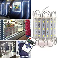 ショーウィンドウライト、pomelotree 5パック3LED 5050100個超明るいLEDモジュールライト防水装飾ライトテープAdhesive forストアウィンドウ照明と広告サイン 2 Pack AM03CW-2PCS