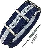 Airself NATOタイプ 時計ベルト 時計バンド ナイロン 替えバンド 替えベルト (交換説明書 交換工具 バネ棒付)
