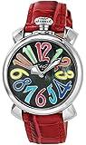 [ガガミラノ]GAGA MILANO 腕時計 MANUALE 40mm ブラック文字盤 5020.2-RED レディース 腕時計