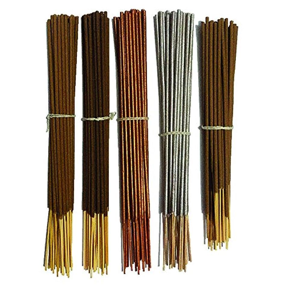 かるドライバ岩Inaki Incense Sticksプレミアム5 Fragrance Infused with Essential Oilsパック40 gm各 – Natural長持ちホーム&インドアFragrance (200グラムパック)