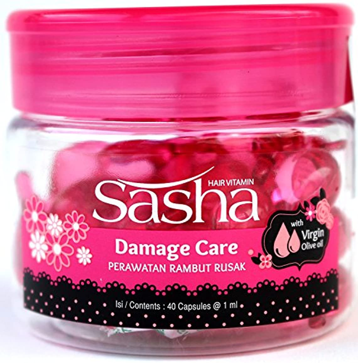 Sasha(サシャ)ヘアビタミン(40粒入)2個セット [並行輸入品][海外直送品]