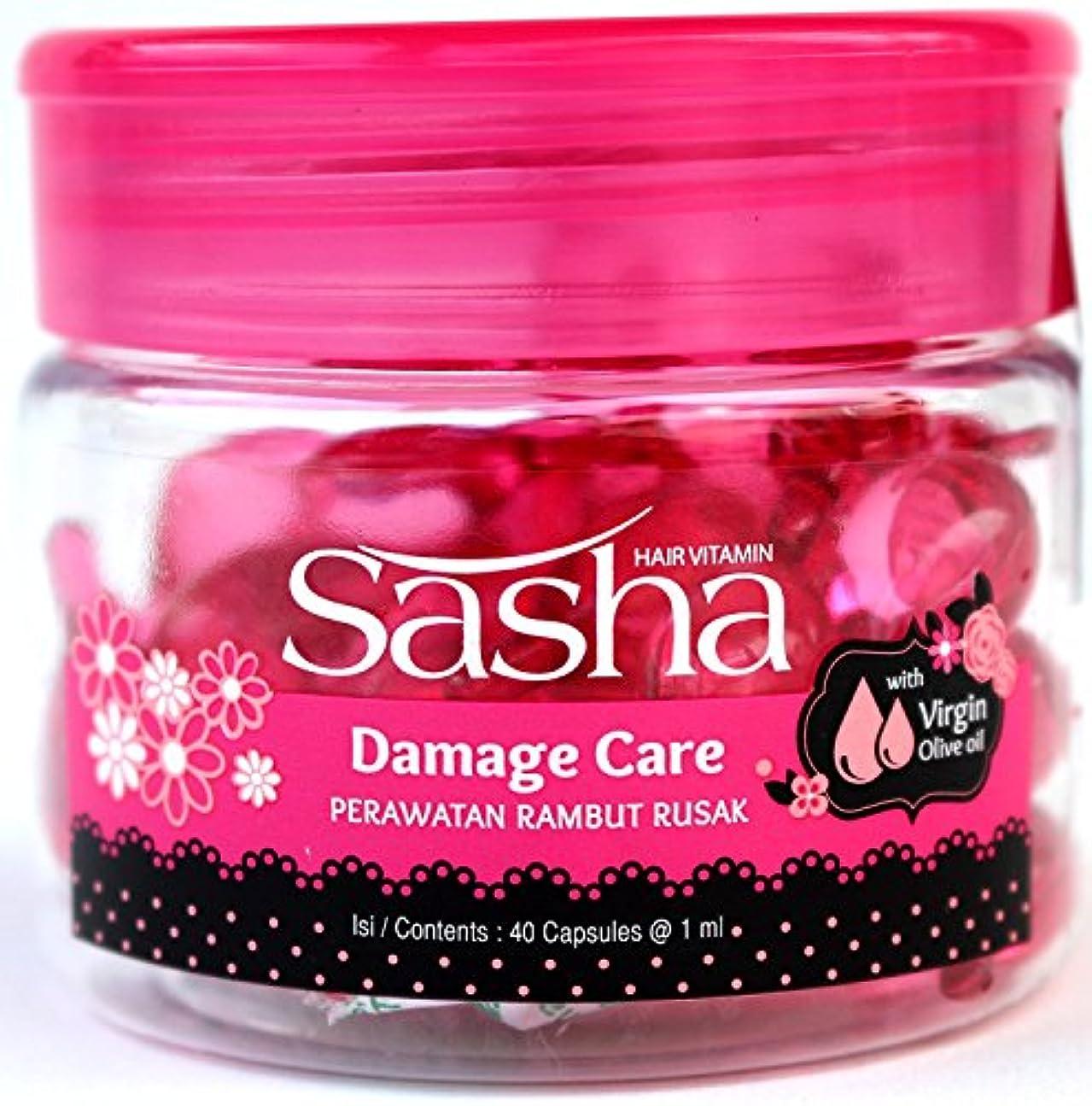 西部病んでいる可動式Sasha(サシャ)ヘアビタミン(40粒入)2個セット [並行輸入品][海外直送品]