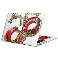 MacBook Air 13inch 2018/A1932 専用スキンシール マックブック 13インチ2018専用シール ノートブック フィルム ステッカー アクセサリー 保護 (2010年 ~ 2017年モデル 非対応) ユニーク 龍 イラスト 赤 レッド 007698