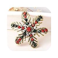 ヴィンテージクリスマスブローチ蝶結びヒジャーブピンベルピン鹿の木ゴールドシルバーブローチピンクリスマスギフト女性向けジュエリーブローシュ、13雪