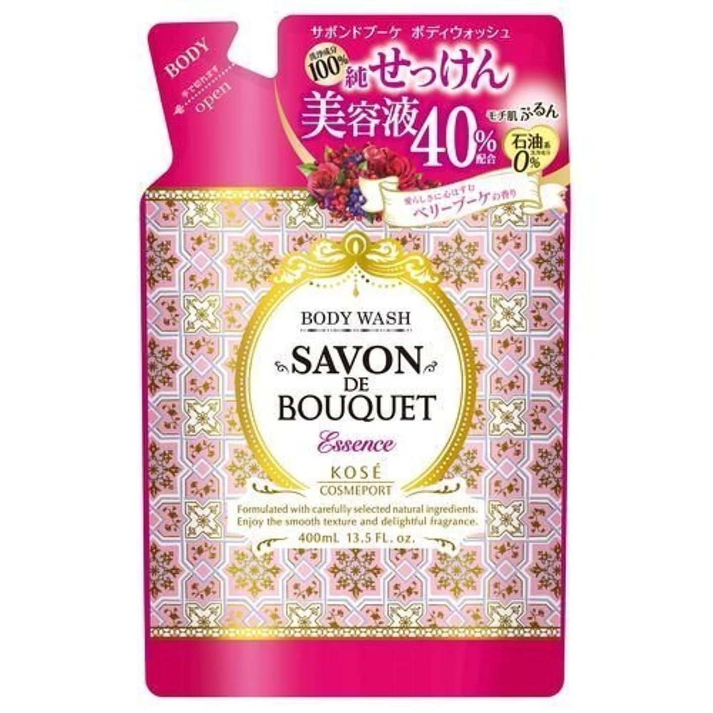 ユーモア目指す石鹸KOSE コーセー サボンドブーケ エッセンス ボディウォッシュ 100%純せっけん 詰め替え 400ml