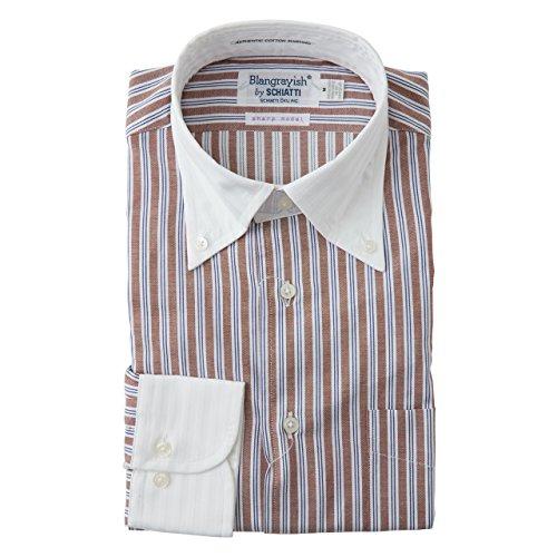 SCHIATTI(スキャッティ)Blangrayish  ボタンダウン ドレスシャツ WH/BR col39 (M)