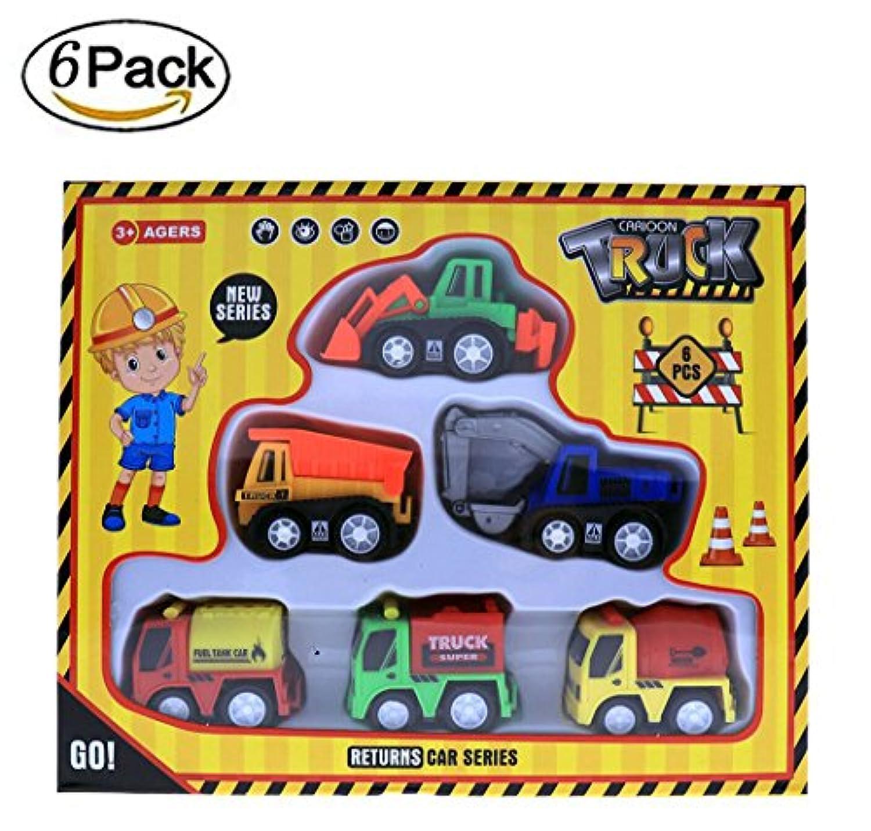 mreukec 6パック、再生車、ダンプBulldozer Construction掘削燃料タンク車トラックプレイセットおもちゃギフト子供のためのギフト最適& Toddlers & Boys