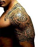 注目度抜群 タトゥー シール 腕 肩用 刺青 和柄 トライバル