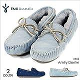 (エミュ) モカシン レディース EMU AMITY DENIM - W11352 INDIGO-DENIM US7-24.0cm