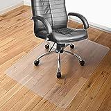 床保護マット チェアマット ずれない 透明 PVC 100*120cm厚み1.5mm SGS認証済無毒エコ素材 デスク足元マット 傷防止 傷防止 すべり止め フローリング 床を保護 机下/椅子/フロア/畳/床暖房対応/オフィス