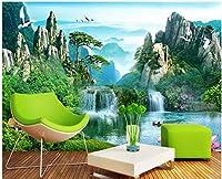 Bzbhart 3D壁画の 壁紙山の滝松テレビの背景の壁家の装飾リビングルームの壁紙-250cmx175cm