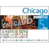 Chicago Popout Map: 5 Maps: North & South Chicago - Transit - in the Loop - Magnificent Mile - Around Chicago (Popout Maps)