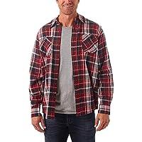 Wrangler Mens Long Sleeve Flannel Shirt Long_Sleeve Button Down Shirt