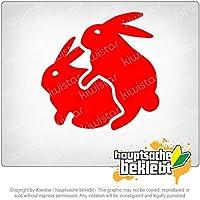 Humping Bunny - ポップヘア Humping Bunny - Popping Hare 10cm x 10cm 15色 - ネオン+クロム! ステッカービニールオートバイ