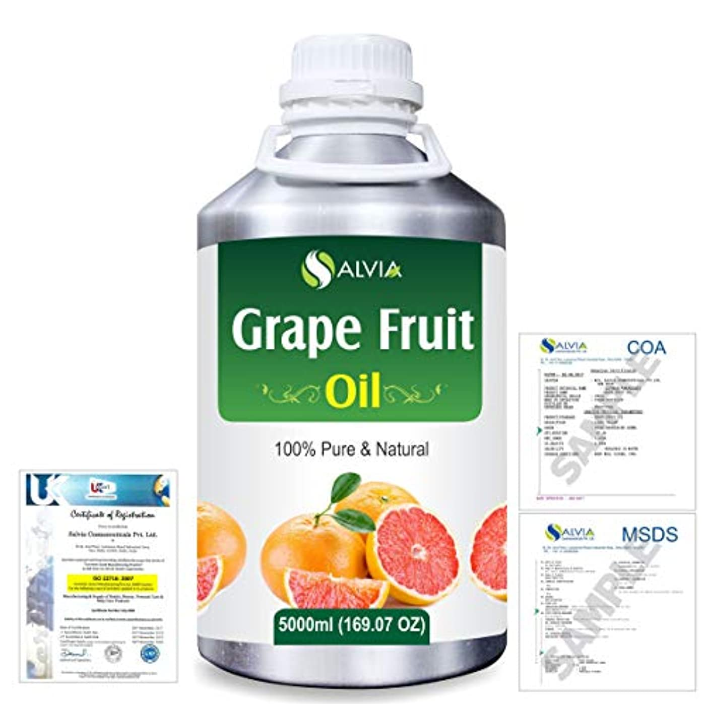 市民権救出粒Grapefruit (Citrus paradisi) 100% Natural Pure Essential Oil 5000ml/169fl.oz.