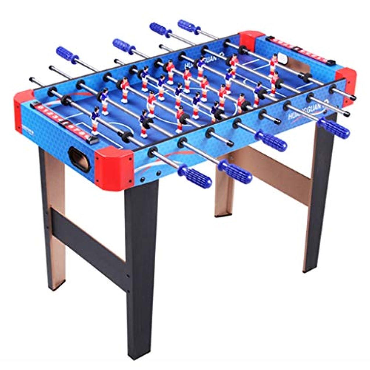 現実には月曜勤勉テーブルサッカーダブルサッカースポーツ玩具親子インタラクティブ玩具大人の屋内ビリヤード子供の教育玩具ファミリーインタラクティブゲーム玩具子供のための最高の贈り物 (Color : BLUE, Size : 90*46*66CM)