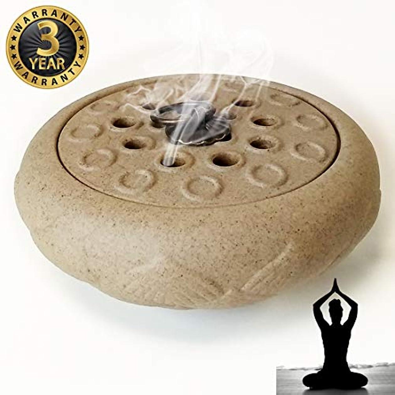 灌漑暫定のグレートオークWOW 陶器製香炉ホルダー 手作り スティック/コーン/コイル線香に最適 ホワイト