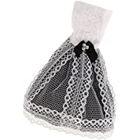 【ノーブランド 品】バービー ジェニー 人形 素晴らしい 手作り 黒と白 スカート