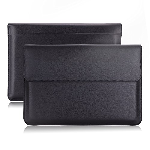 スリーブケース - ATiC iPad Pro 10.5/Zenpad 3S/Zenpad 10/Surface 3/ASUS TransBook T100HA等10~11インチタブレット用収納ケース/バッグ BLACK (名刺カードスロット付き ポケット付き 内部繊維)