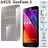 ZenFone 2 ガラスフィルム 5.5インチ (ZE551ML / ZE550ML) ASUS 液晶保護 透明 強化 国産ガラス使用 ラウンドエッジ加工 Tempered Glass Film クリア [MS factory] FD-ZF2-GLASS-CL