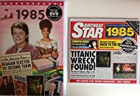 1985 Birthday Gifts Pack - 1985 DVD Film , 1985 Chart Hits CD and 1985 Birthday Card