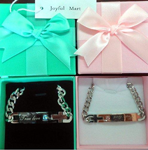(ジョイフルマート)Joyful Mart ブレスレット ステンレス ジルコニア ブルー レッド