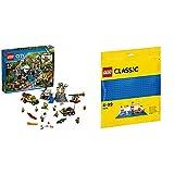 レゴ(LEGO)シティ ジャングル探検隊 60161 & クラシック 基礎板(ブルー) 10714