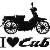 蒔絵シール 「アイラブカブ 黒」 I love Cub