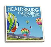 ヒールスバーグ–Sonoma County–ホットAir Balloons 4 Coaster Set LANT-78111-CT