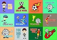 Creanoso SoccerスポーツシリーズMotivationalステッカー–10シート–Inspirationalあなたの激励の言葉壁デカールStickyアートの男の子、女の子、ティーン、キッズ、子供、Teens–サーフェスステッカーセット