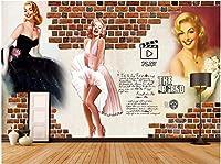 Bzbhart 3Dの壁紙の壁画ヴィンテージキャラクターの背景の壁のリビングルーム の壁の壁画の壁紙-350cmx245cm