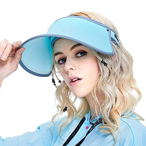 AnTian サンバイザー UVカット 帽子 軽量 紫外線対策 通気性よい おし...