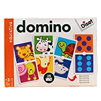 DOMINO DE ANIMALES Y PUNTOS.(EDUCATIVOS).(28 FICHAS)