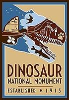 ghaynes Distributing恐竜Monumentアートポスターステッカーデカール(RV National Hike) サイズ: 3x 4インチ