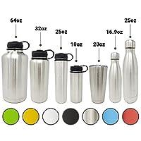 二重壁18/8pro-gradeステンレス真空密封スリム水ボトルleak-proofステンレスキャップ  Great forアルカリ水ストレージ–7色と7異なるサイズを選択 20oz Tumbler シルバー