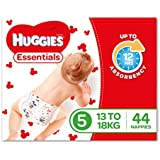 Huggies Essentials Nappies, Size 5, 44 Count