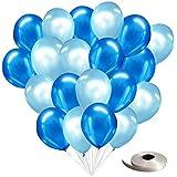 frontier 風船 パールバルーン デコレーション 100個セット 誕生日 飾りつけ おしゃれ (パールバルーン100個入り(ブルー×ライトブルー))