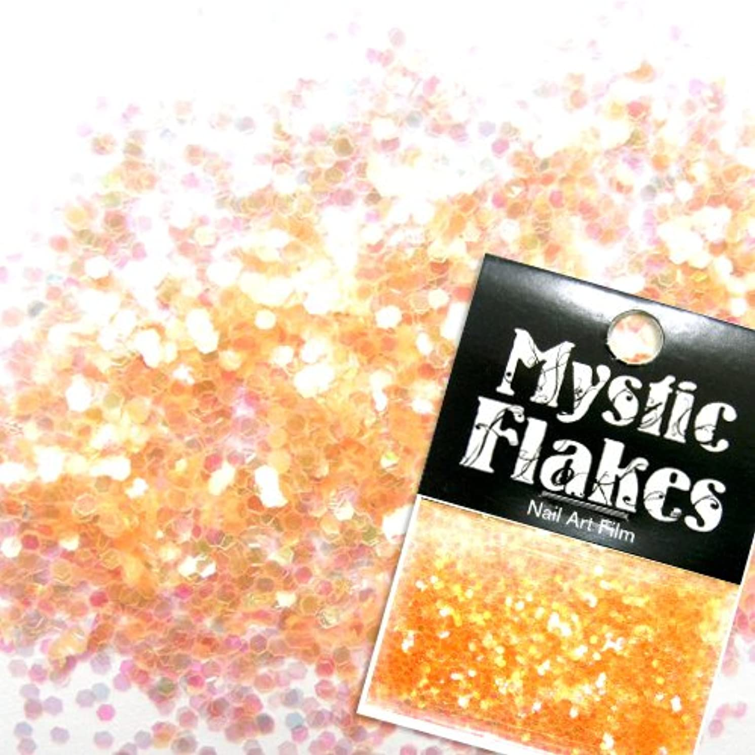 神話ビタミン人類ミスティックフレース ネイル用ストーン パールオレンジ ヘキサゴン 1mm 0.5g