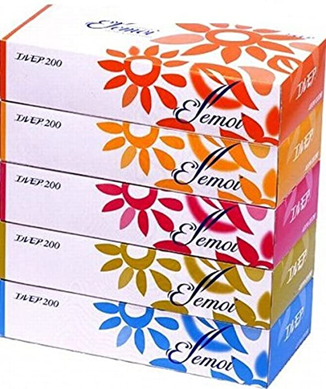 酸化するジャンク運ぶエルモア ティッシュ 400枚(200組)×5箱組