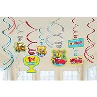 Disney 1st Birthday Cars Hanging Swirl Decorations 渦巻装飾ハンギングディズニー第1誕生日カーズ?ハロウィン?クリスマス?