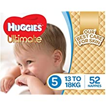 Huggies Ultimate Nappies, Boys, Size 5 (13-18kg), 52 Count