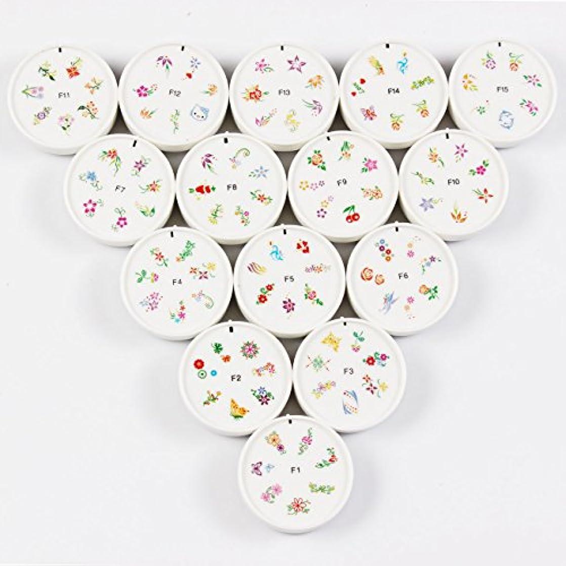 FingerAngel ネイルイスタンプセット 15枚 ホワイト ネイルスタンパー ゴム プラスチック ネイルアート