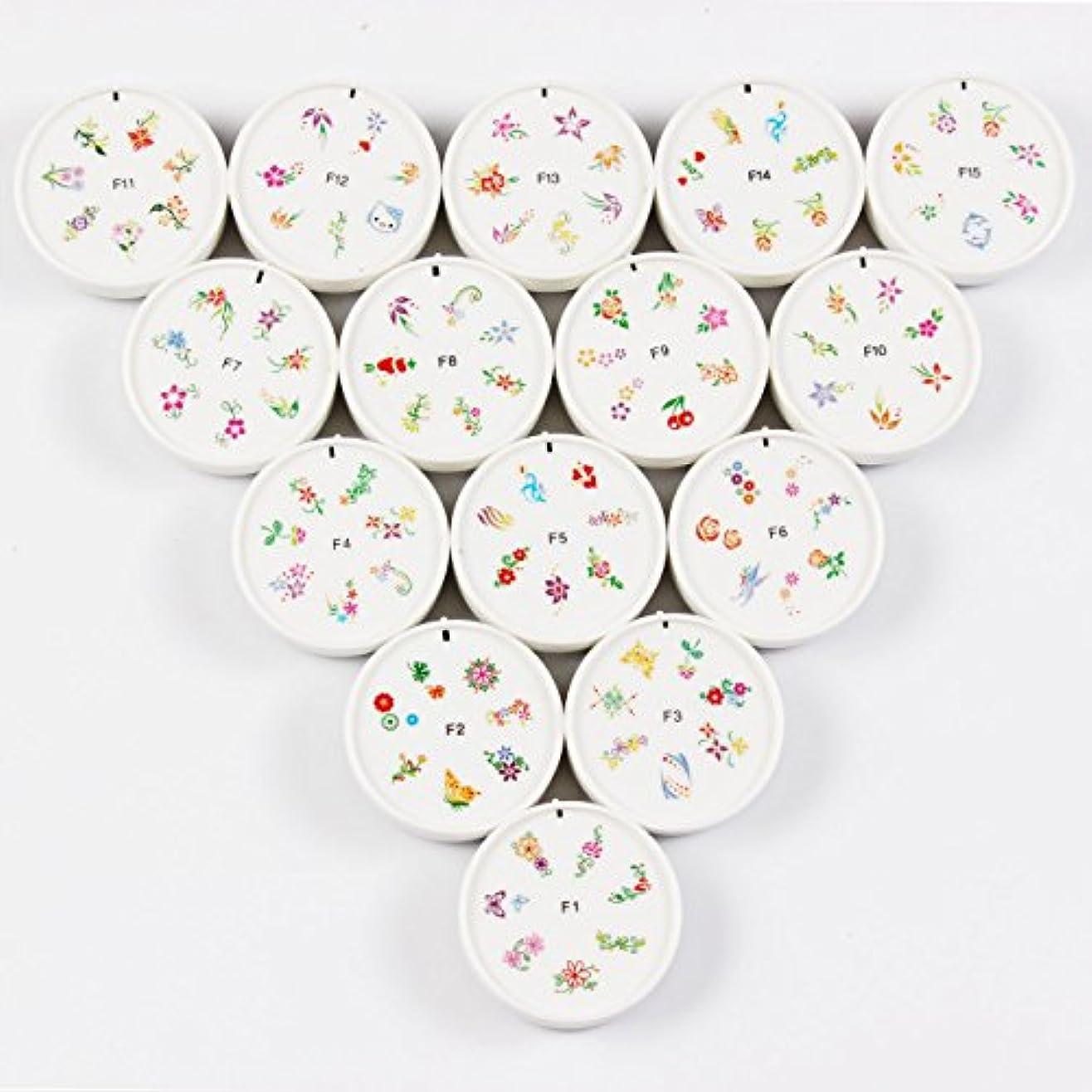 パースウェイド簡単にFingerAngel ネイルイスタンプセット 15枚 ホワイト ネイルスタンパー ゴム プラスチック ネイルアート