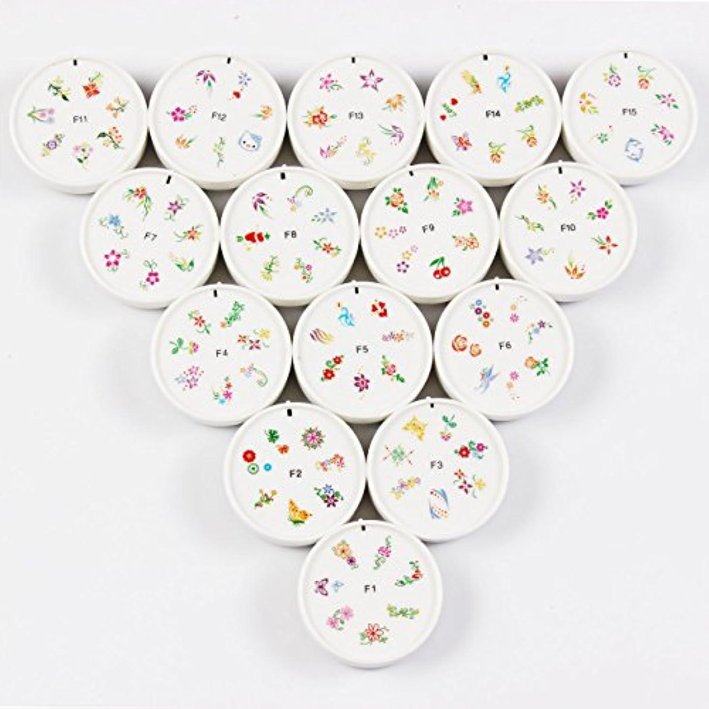 地上で寝てる呪われたFingerAngel ネイルイスタンプセット 15枚 ホワイト ネイルスタンパー ゴム プラスチック ネイルアート