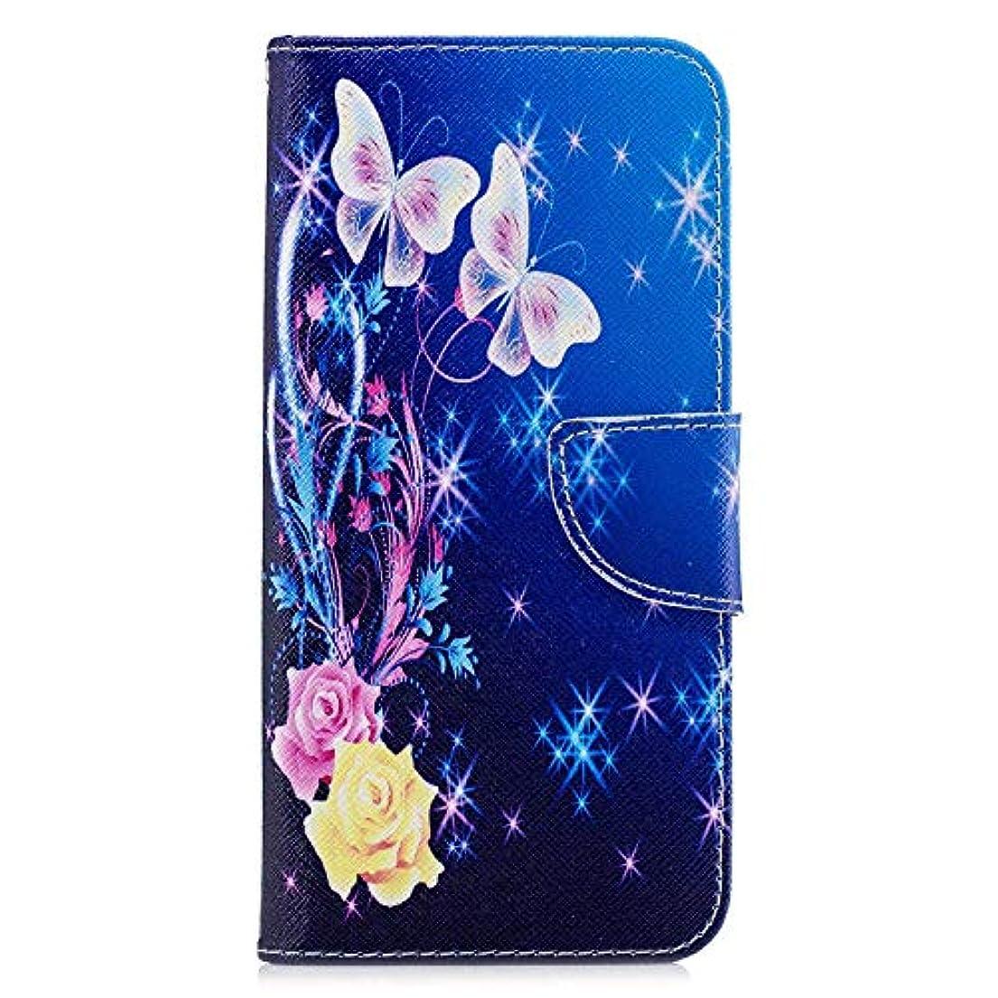 アクチュエータ注入でるOMATENTI Huawei Honor 8C ケース, ファッション人気 PUレザー 手帳 軽量 電話ケース 耐衝撃性 落下防止 薄型 スマホケースザー 付きスタンド機能, マグネット開閉式 そしてカード収納 Huawei...
