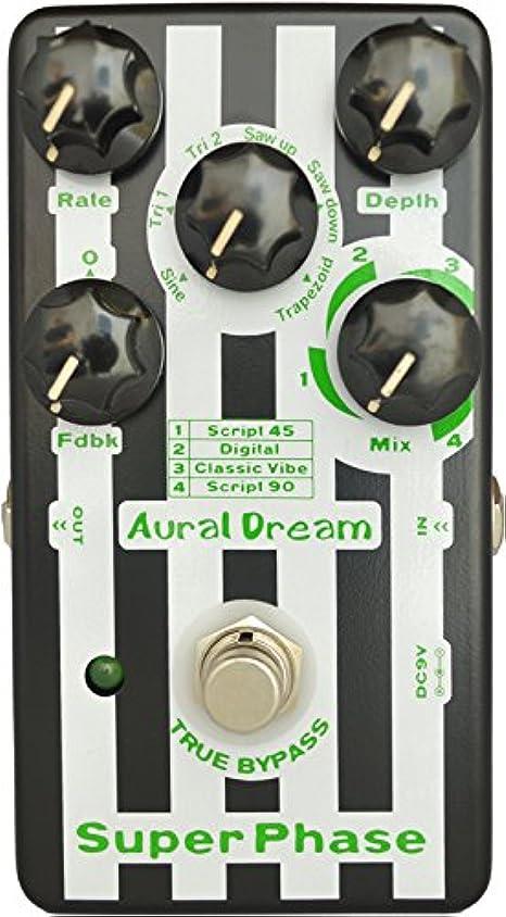 練習したカニ基本的なAural Dream Super Phase ギターの効果 よんしよ付きモデルとろくの波形にフィードバックモードを含む、 48の位相効果に達する、本当にバイパス