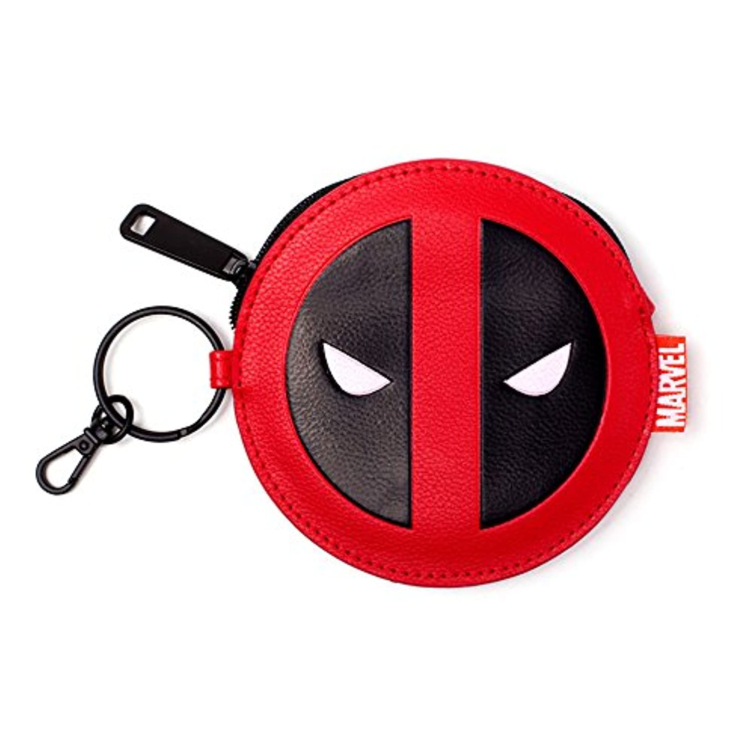 Marvel Comics Deadpool Face Coin Purse, Red/black Gw268775ded