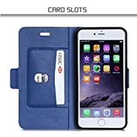 iPhone6s ケース iPhone6ケース ,Fyy® 高級PUレザー ケース 手帳型 保護ケース カード収納ホルダー付き 横置きスタンド機能付き マグネット式 スマホケース [全4色]ストライプ柄1