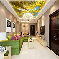 Wuyyii カスタム写真の壁紙3Dステレオの壁紙ツリービュー天井の天頂の壁紙カスタムリビングルームの寝室オフィスカフェ壁画-120X100Cm